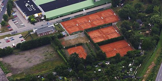 Tennisanlage von oben