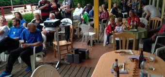 Public Viewing statt Training