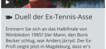 Großes Tennis beim Schaukampf
