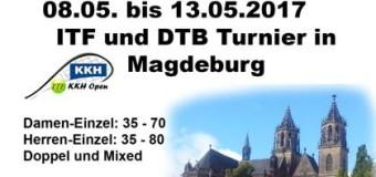 2. KKH Open vom 8. bis 13. Mai in Magdeburg