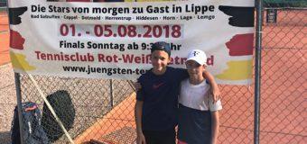Emilio,  Hannes und Felix aus Junior-Team beim Nationalen Deutschen Jüngsten-Turnier in Lemgo aktiv